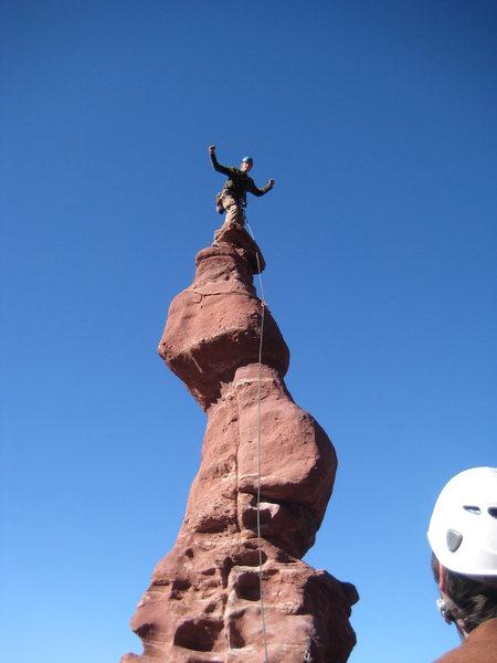 Rock Climbing Photo: Ancient Art's Corkscrew Summit - 11/27/09