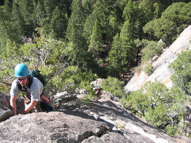 Rock Climbing Photo: Once you exit the gully, start climbing up exposed...