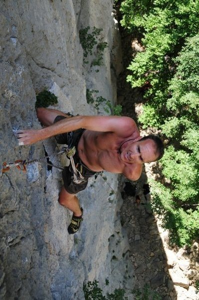 Climbing in Paklenica National Park.