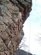 Rock Climbing Photo: Monkeys on Magoo.  The first bolt is shared with M...