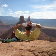 Rock Climbing Photo: Lounging on the summit of Sister Superior Tower.  ...
