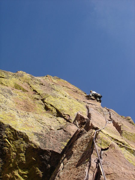 Crux pitch on the Yellow Spur.
