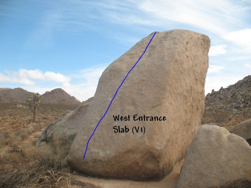 West Entrance Slab (V1), Joshua Tree NP