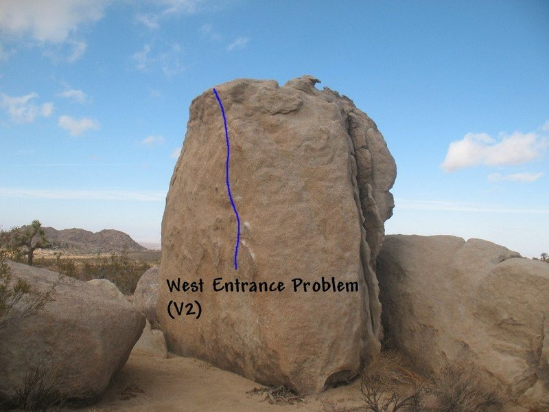 West Entrance Problem (V2), Joshua Tree NP