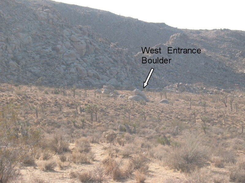 The West Entrance Boulder from the road.