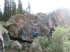 Rock Climbing Photo: Never mind the climber on the problem Pink Fink in...