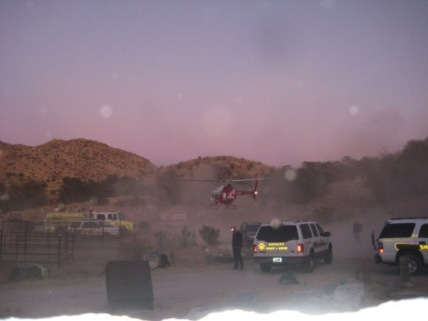 Rock Climbing Photo: Rescue Helicopter landing in Prison Camp (Jailhous...