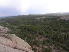 Rock Climbing Photo: View from the top of Walt's Wall.