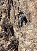 """Rock Climbing Photo: Sonya on """"Powder Puff"""". Photo by Blitzo."""
