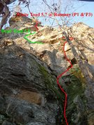 Rock Climbing Photo: White Toad with the Dead Toad variation.  The stan...