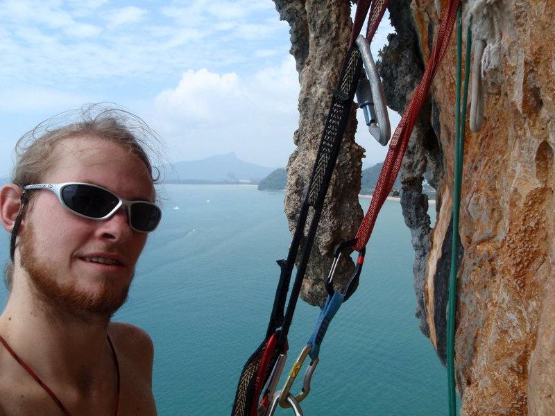 Rock Climbing Photo: Biner on Ao Nang tower.