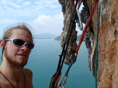 Rock Climbing Photo: Biner on Ao Nang tower.