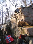 Rock Climbing Photo: Agape face on the lfet wall and the arete behind Z...