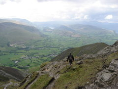 Rock Climbing Photo: Hiking on Blencathra Mt.Looking towards Thirlmere ...