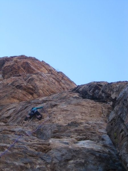 Rock Climbing Photo: Leading!