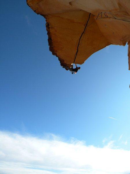 Rock Climbing Photo: Dustin sends Desert Gold