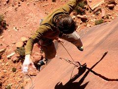 Rock Climbing Photo: Dustin falls on the Six Star Crack