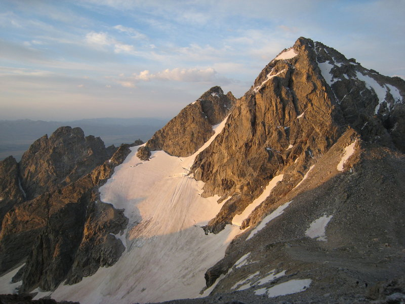 Rock Climbing Photo: Alpenglow on the Middle Teton.
