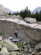Rock Climbing Photo: Eliott Morris moving into to the left undercling o...