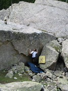 Rock Climbing Photo: Chip Phillips on the FA of Frosted Flakes.