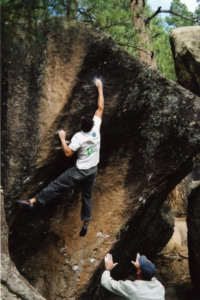 Rock Climbing Photo: This is the way most people do the jump move.