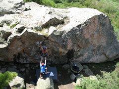 Rock Climbing Photo: Ashley Overton finishing up Pink Fink.