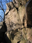 Rock Climbing Photo: Right up the center below the prow