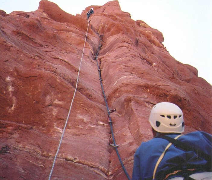 Rock Climbing Photo: Tony heading for the top