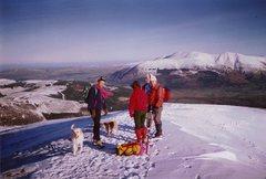 Rock Climbing Photo: Winter hiking near Keswick ,with part of the Helve...