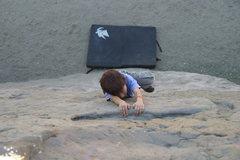 Rock Climbing Photo: Bryn Owen (6 years old) on Slab - Left.