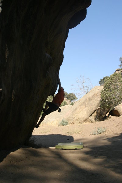 Rock Climbing Photo: Another view of the opening moves.