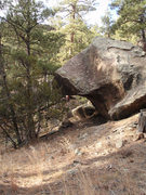Rock Climbing Photo: This is the boulder that overhangs the trail to th...