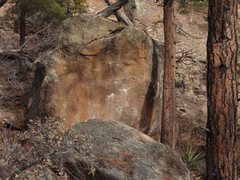 Rock Climbing Photo: The Thin face, there are a couple of problems hidd...