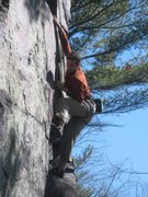 "Rock Climbing Photo: Knower pulling down on ""All the Way"" a f..."