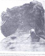 Rock Climbing Photo: Old photo.