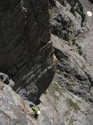 Rock Climbing Photo: Andy in the middle of the route....
