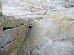 Rock Climbing Photo: chockstone pitch