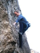 Rock Climbing Photo: The steep section at the beginning of the first pi...