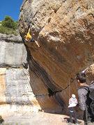 """Rock Climbing Photo: Enjoying warm winter sun on """"Ya Os Vale""""..."""
