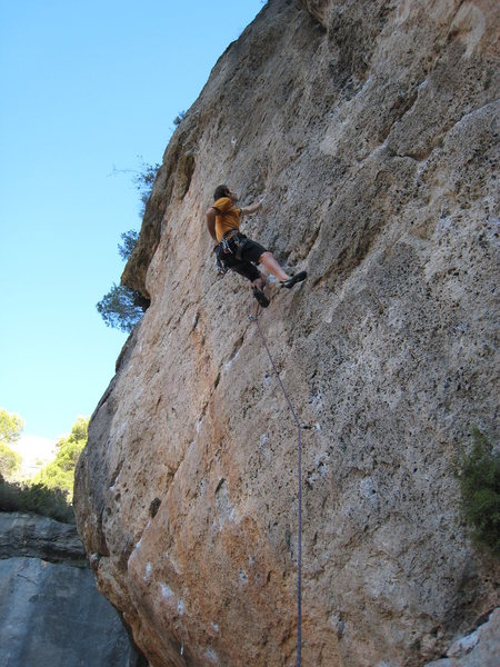 Rock Climbing Photo: Resting up for the crux of Valga'm deu....
