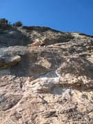 """Rock Climbing Photo: High up on the excellent """"Triste Pesadilla&qu..."""