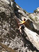 "Rock Climbing Photo: Enjoying the classic jugs of ""Pixapins"" ..."