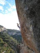 Rock Climbing Photo: Markus Meyer on a beautiful 8a+ (5.13c) at La Siur...
