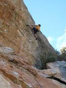 "Rock Climbing Photo: Onsighting the stellar ""L'Escamarla"", 7c..."