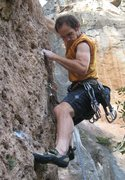 Rock Climbing Photo: Showing off my newly acquired Spanish Krusty the K...