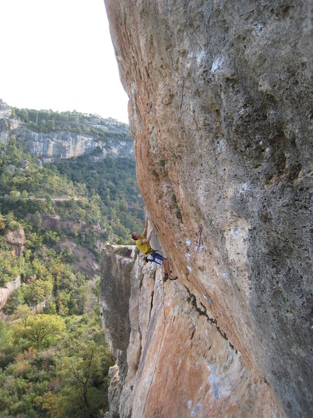 Rock Climbing Photo: Markus Meyer starting up a rad looking 8a+ just le...