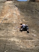 Rock Climbing Photo: Long reaches below the business.