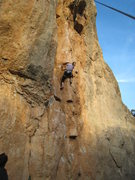 Rock Climbing Photo: Beginning up the aesthetic wall.