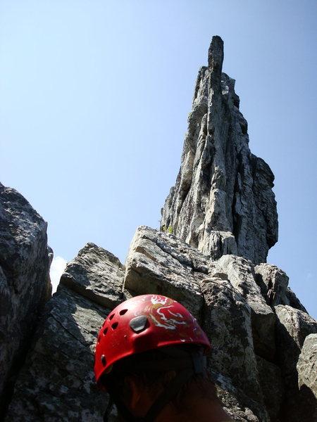 "Rock Climbing Photo: Pre summit in the ""Gunsight Notch"""