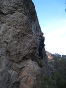 Rock Climbing Photo: The engaging near-vert start of Espero Primavera.